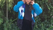 jacket,blue windbreaker,windbreaker,vintage,90s style,90s vintage,80s style,retro,white,black,blue,tumblr,grunge,colorblock