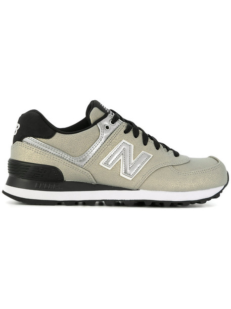 New Balance women sneakers leather grey shoes