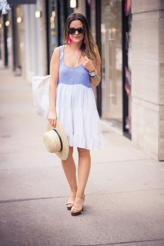 thestyledfox blogger dress jewels hat bag shoes sunglasses