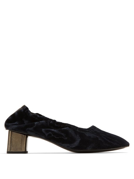 Robert Clergerie pumps velvet navy shoes