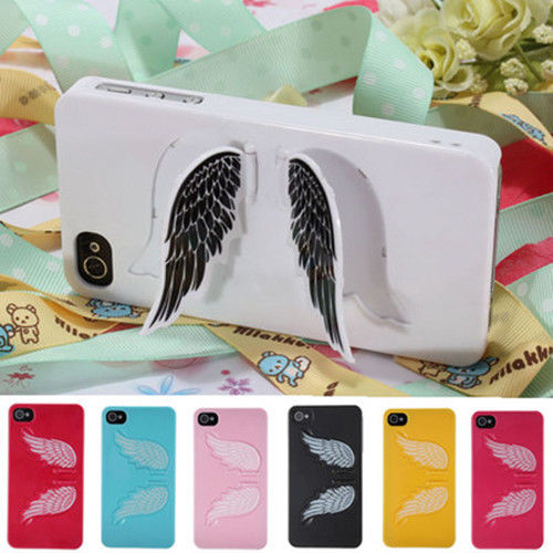 3D Cute Angel Wings Hard Back Case Cover with Stand for Apple iPhone 5 5S 4S 4 | eBay