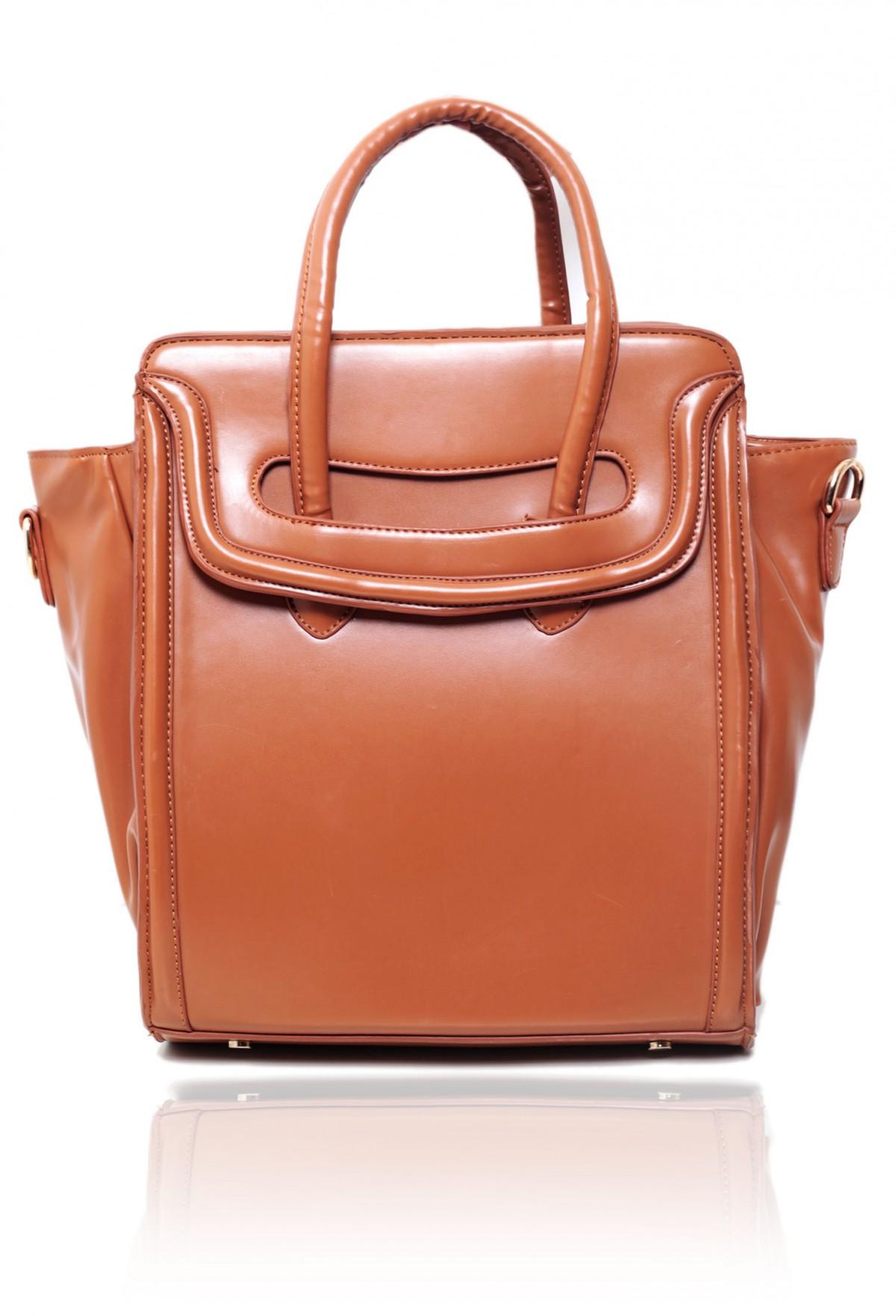 Grovsvenor Tan Cut-Out Detail Handbag | Pink Boutique
