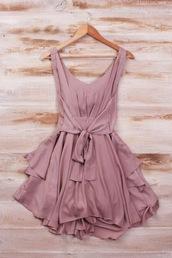 dress,rose,rose dress,summer dress,casual dress,mauve,mauve pink dress,mauve pink,mauve dress,skater dress