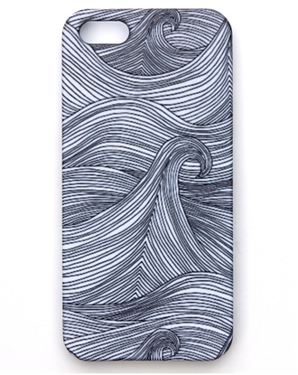 phone cover holiday season sea style black white geometric musthave black lines