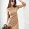 Women's petite frill suede dress