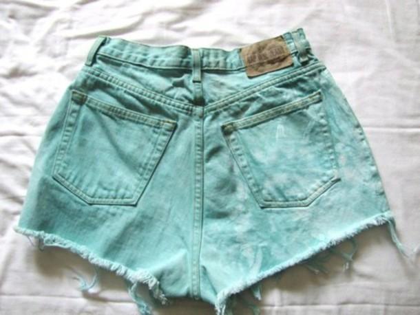 shorts mint green shorts