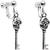 Skull Skeleton Key Clip On Earrings | Body Candy Body Jewelry