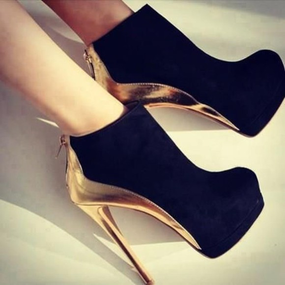 shoes high heels black  high heels gold lovethem want to find!! want want want hot heels black