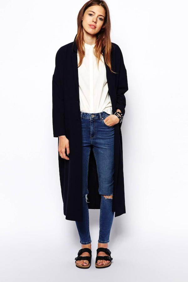 le fashion image blogger jacket jeans shirt
