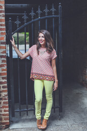 top,ornate,colorful,birhgt,bold,open,back,open back,summer,prep,preppy,prepster,yellow,pink,orange,neon,blouse,short sleeve