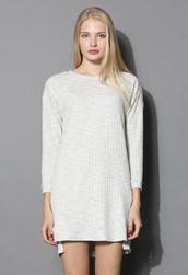 dress,basic textured cotton dress in sand,chicwish,sand,white