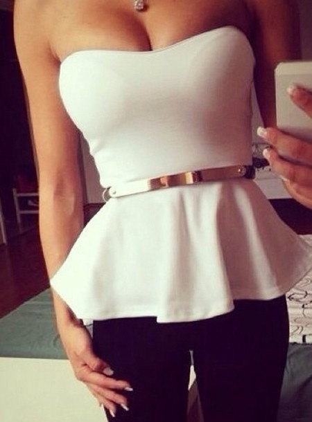 White And Gold Blouse 88