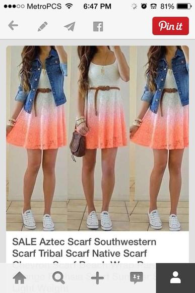 white dress dress pink dress orange dress short dress faded colors summer dress