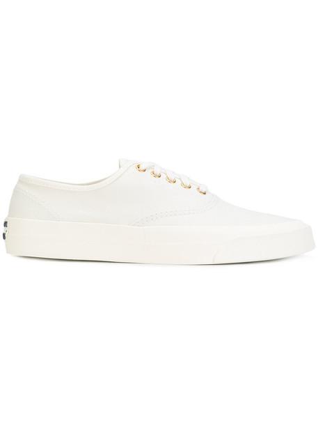 maison kitsune women sneakers white cotton shoes