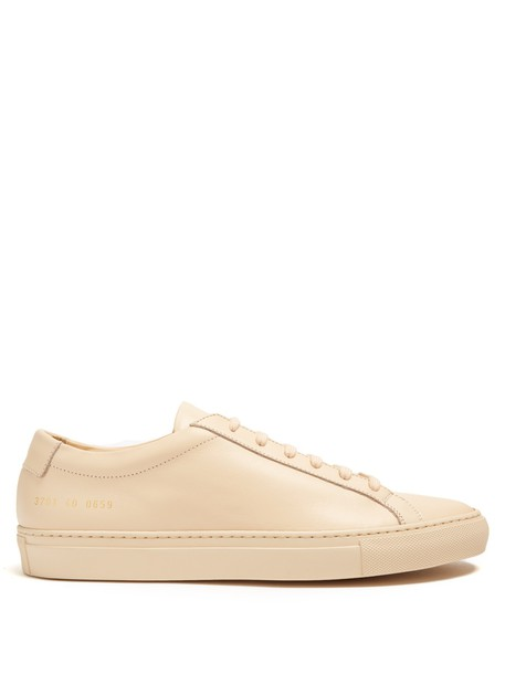 Common Projects top leather nude