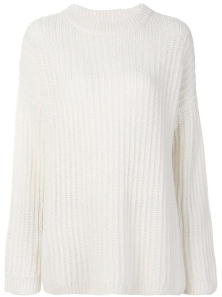 Levi's jumper women white wool knit sweater