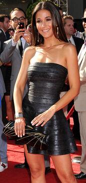 dress,clothes,black,black dress,metallic,strapless,red carpet dress,celebrity,mini,mini dress,sexy dress,sexy party dresses,party dress,bustier dress,emmanuelle chriqui