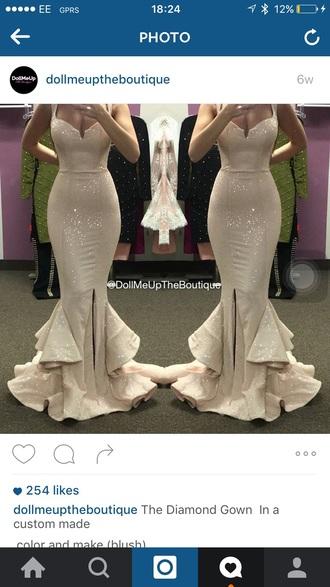 dress mermaid wedding dress glamour sequin dress