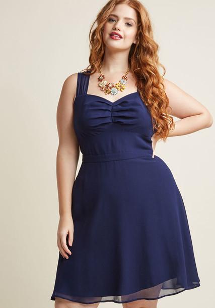 MCD1436 dress cocktail dress straps chiffon sheer classic number navy blue