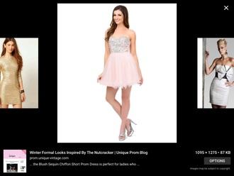 dress pastel pink dress sparkle