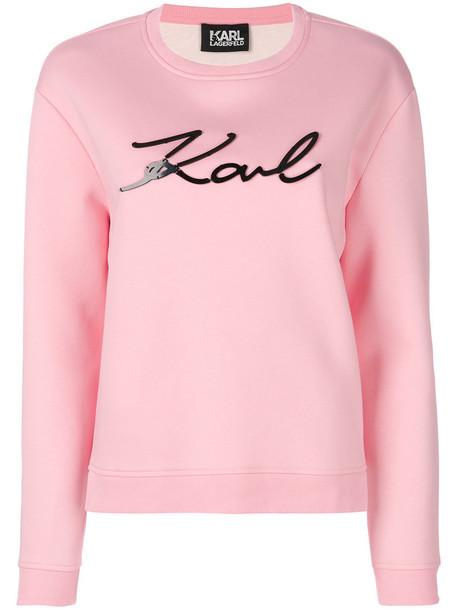 karl lagerfeld sweatshirt women cotton purple pink sweater