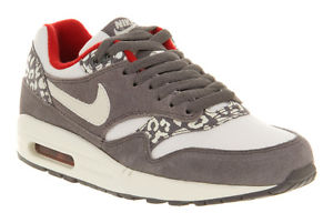 Brand New Nike Air Max 1 White Grey Snow Leopard Trainers Shoes | eBay
