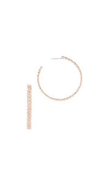 Shay earrings hoop earrings gold rose gold rose jewels