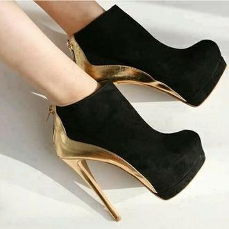 high heels metallic shoes