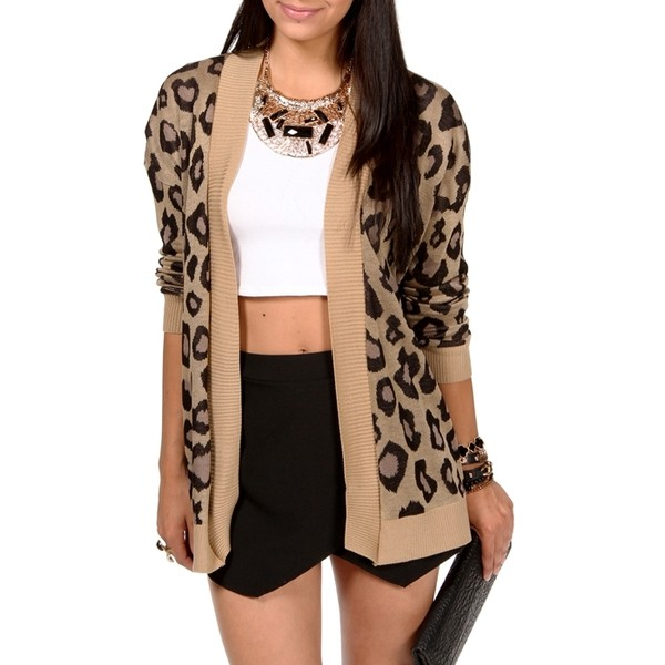 Leopard Open Cardigan - Polyvore