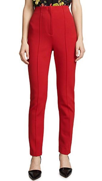 Diane Von Furstenberg pants skinny pants high waisted high