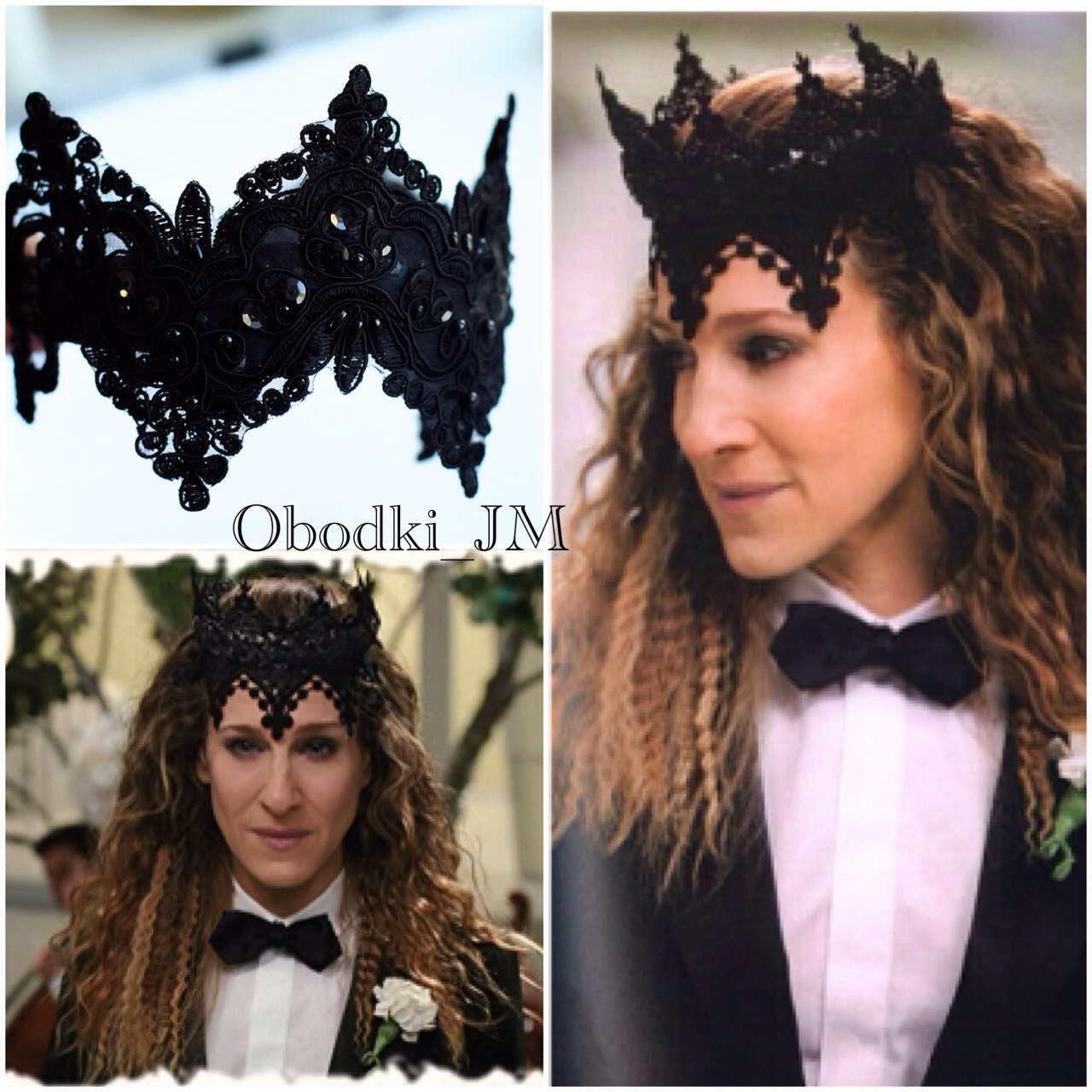 Black fascinator Evil queen black lace headpiece costume Black lace ... e5ee53cda48