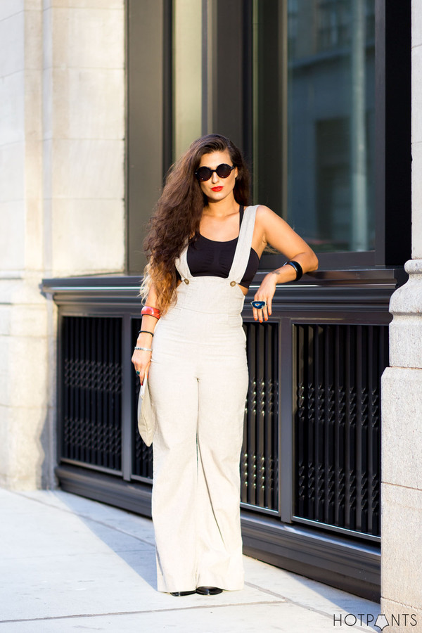 do the hotpants blogger make-up sunglasses jumpsuit