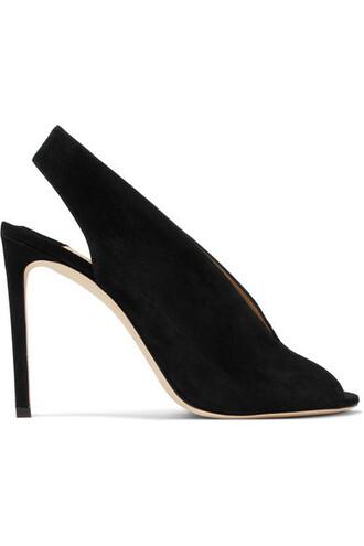 100 pumps suede black shoes