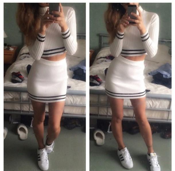 dress adidas stripes 2piece dress two-piece