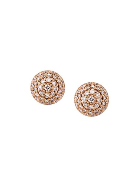 Alinka rose gold rose women earrings stud earrings gold grey metallic jewels