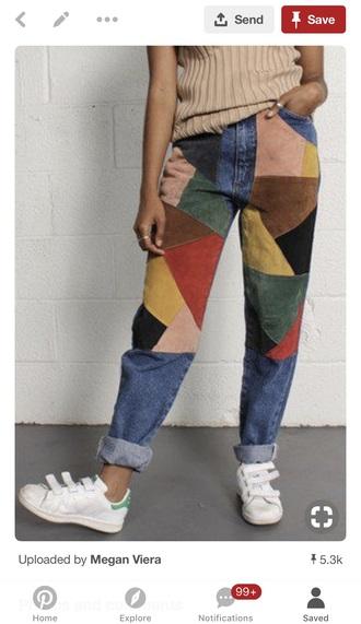 jeans multicoloured jeans corduroy