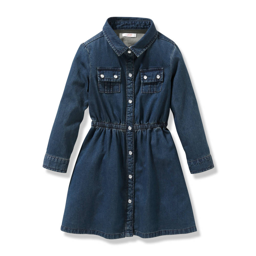 Toddler Girls' Denim Dress in Dark Wash from Joe Fresh