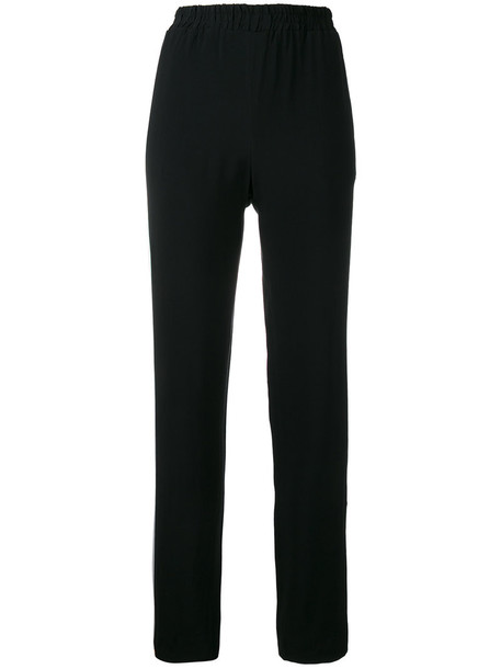 Each X Other - side band trousers - women - Acetate/Viscose - L, Black, Acetate/Viscose