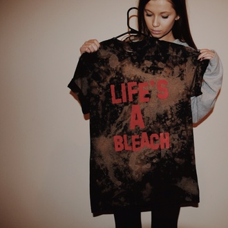 t-shirt bleached fashion flashes of style style tumblr outfit tumblr shirt tumblr girl tumblr clothes girly