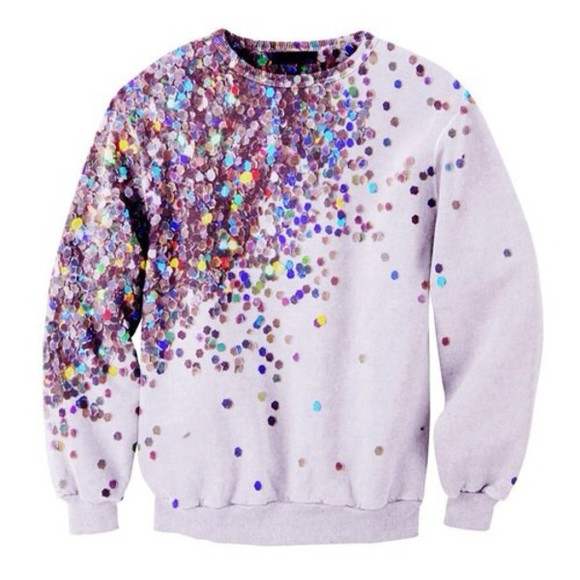 cardigan blouse sequins colorful shirt glitter crewneck sweater
