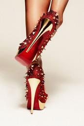 shoes,killer heels,black high heels,red high heels,prom shoes,platform heels