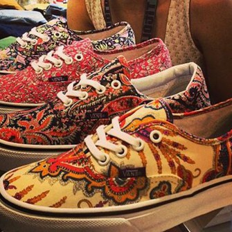 yellow black white green shoes vans vans authentic vans sneakers printed vans blue dark blue sneakers orange kitchie scarf red