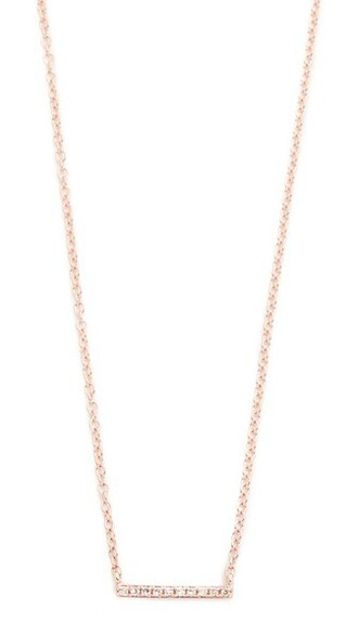 mini rose gold rose necklace gold jewels
