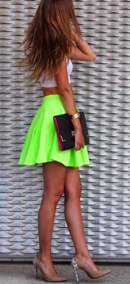 skirt neon neon skirt