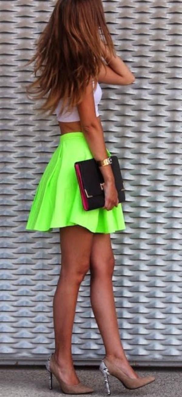 neon skirt skirt neon
