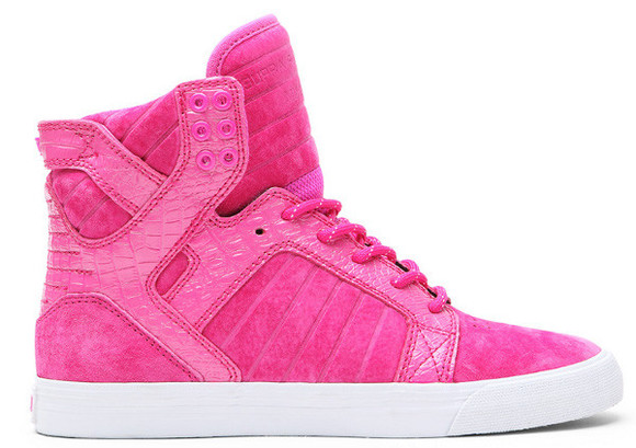 shoes sneakers girls rose supra shoes velours skytop