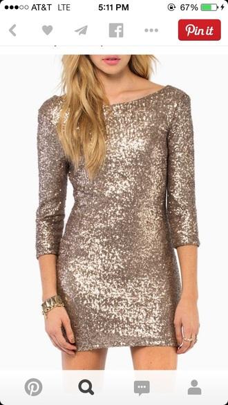 grey dress sequin dress 3/4 sleeves