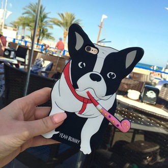 phone cover yeah bunny cover cute dog frenchie iphone cover iphone case iphone frenchbulldog