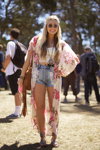 blouse bag boho tassel floral kimono hippie tumblr shorts jacket jewels