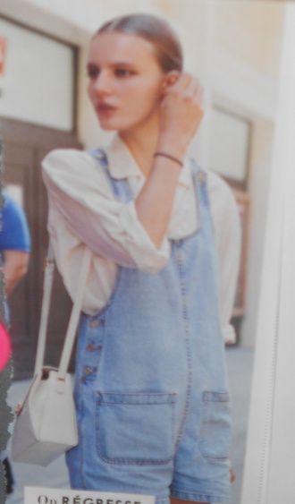 jumpsuit denim blue blouse white blouse white white top denim overalls overalls blue denim light blue denim